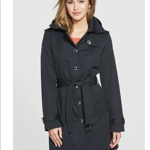 Michael Kors Black Belted Trench Coat